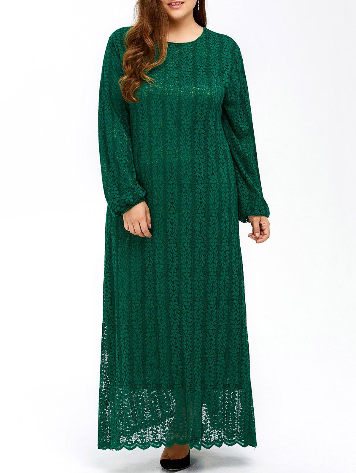 Outfit Plus Size Maxi Long Sleeve Lace Dress