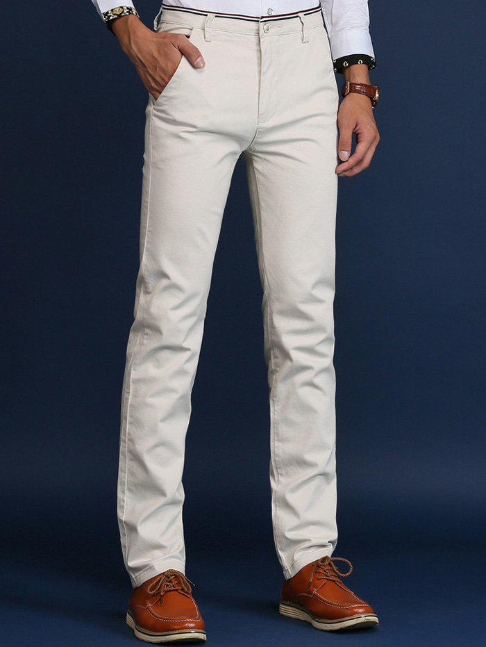 Online Trimmed Mid Rise Skinny Chino Pants