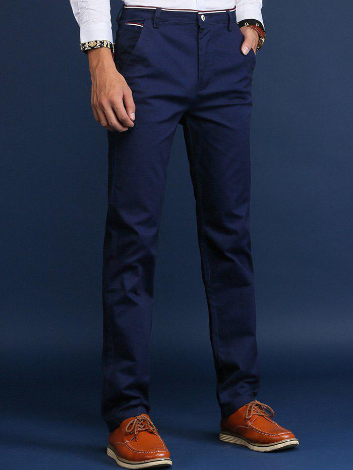 Sale Trimmed Mid Rise Skinny Chino Pants