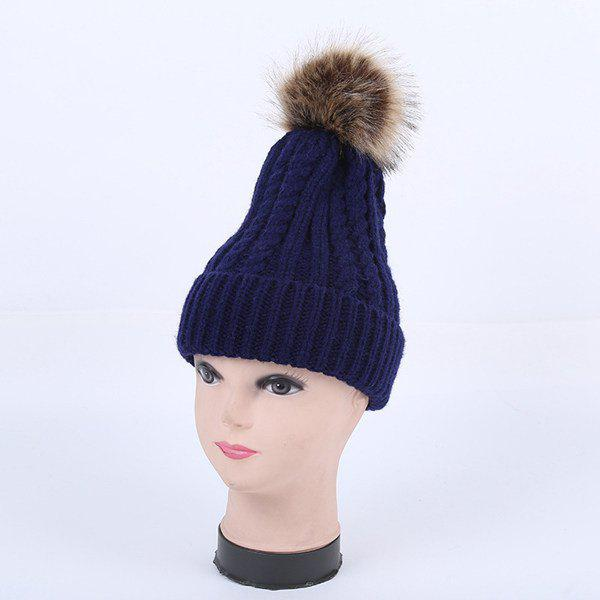 Fashion Winter Cable Knit Pom Hat