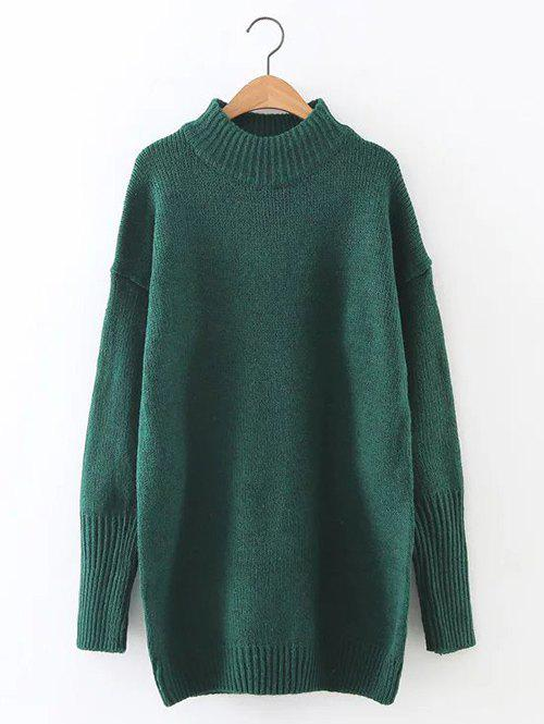 Latest Loose Mock Neck Long Sweater