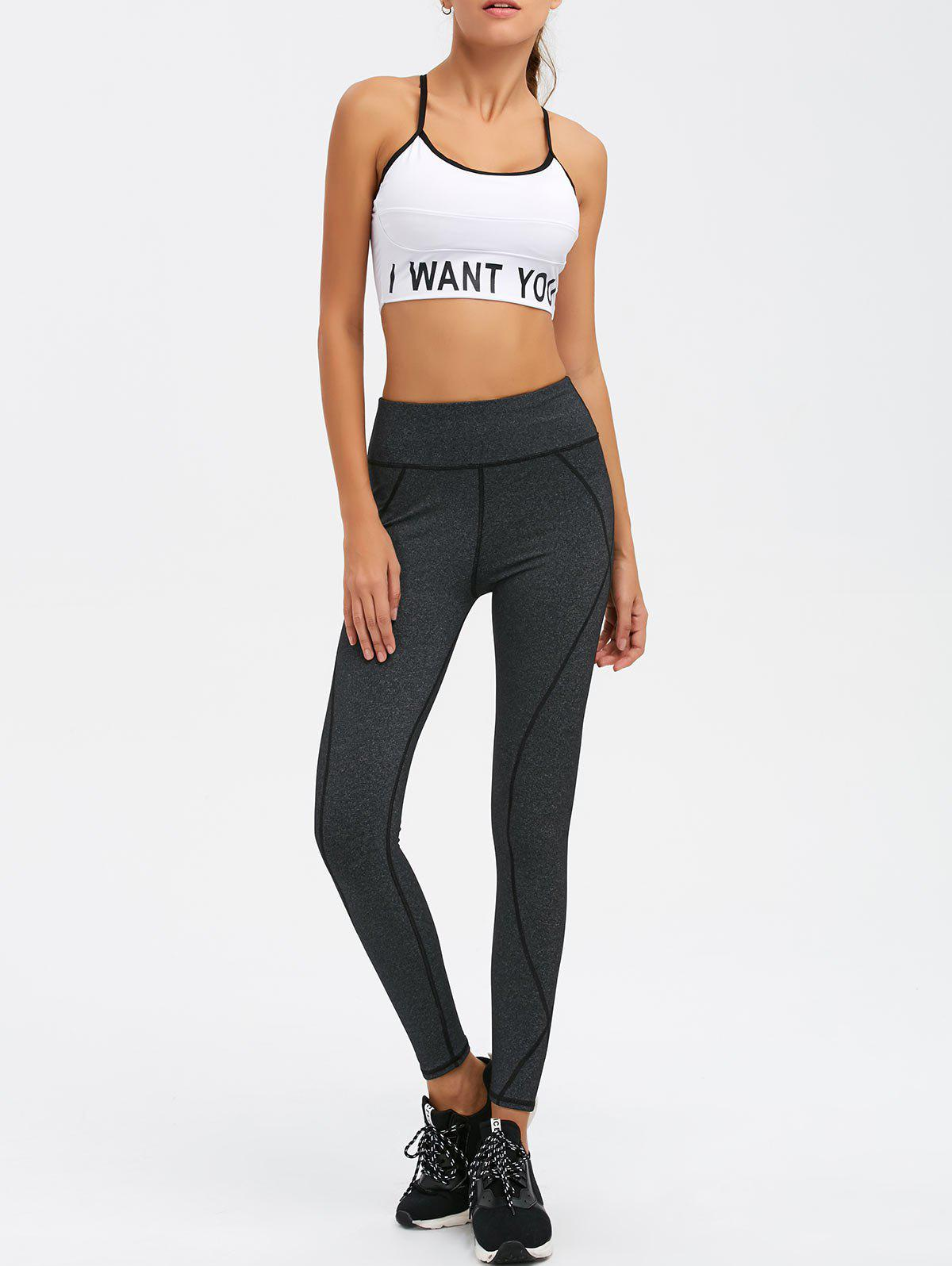 Outfit Graphic Bra With Yoga Leggings