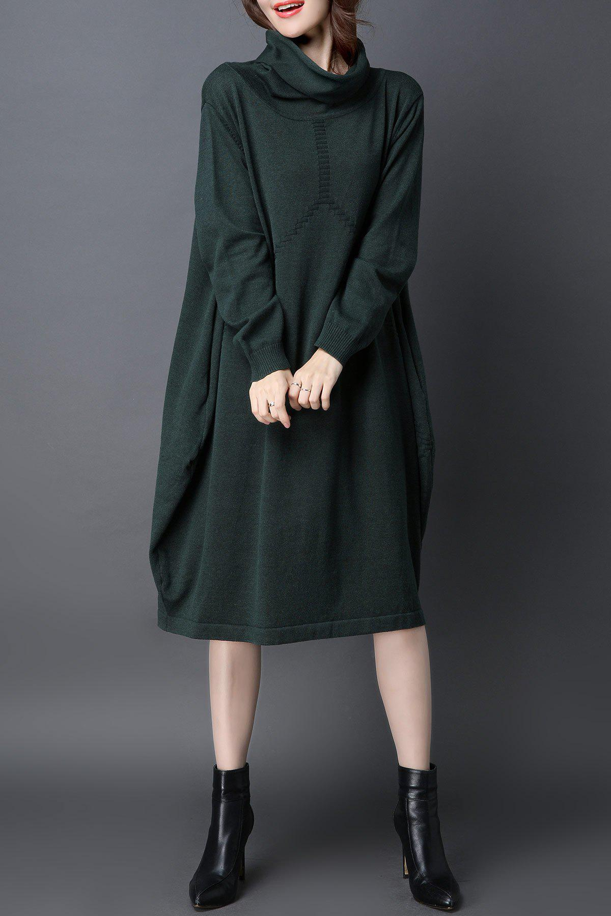 Shop Cowl Neck Oversized Knitted Dress