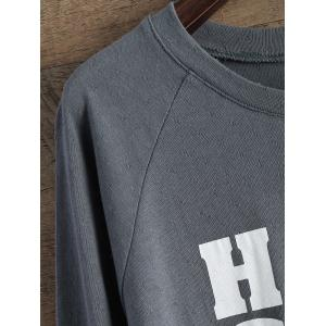 High Low Letter Loose T-Shirt -