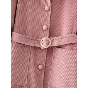Belted Single Breasted Coat -