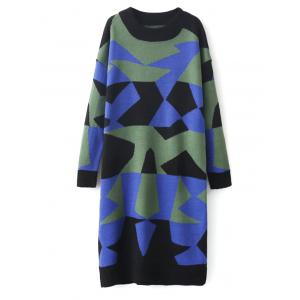 Color Block Shift Sweater Dress