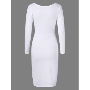 Cut Out Fitted Midi Bandage Dress - WHITE XL
