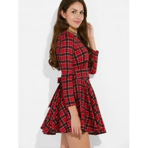 Plaid Mini Vintage Dress -