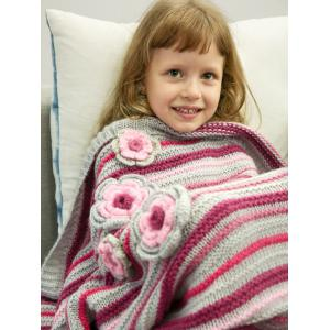 Stripe Crochet Sleeping Bag Wrap Mermaid Blanket For Kids -