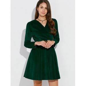 Corduroy Mini Vintage Dress -