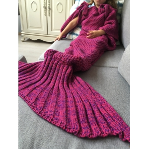 Winter Sleeping Bag Bed Throw Wrap Mermaid Blanket -