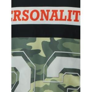 Camo Graphic Zip Up Padded Jacket -
