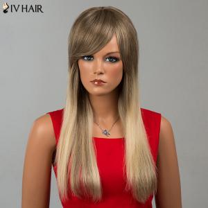 Siv Hair Long Side Bang Straight Human Hair Wig -