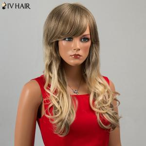 Siv Hair Long Side Bang Wavy Human Hair Wig -