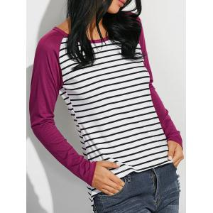 Loose Stripe Raglan Sleeve T-Shirt