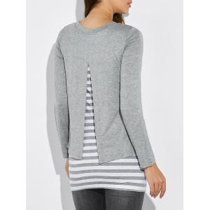 Striped Faux Twinset T-Shirt