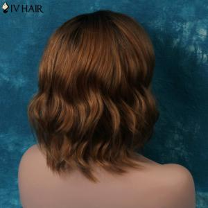 Siv Short Shaggy Side Parting Wavy Human Hair Wig - COLORMIX