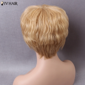 Siv Short Layered Side Bang Natural Straight Human Hair Wig -