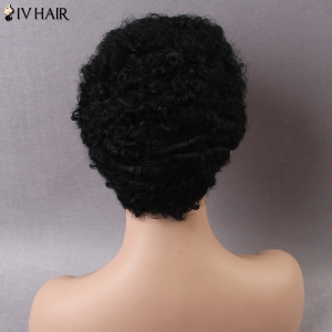 Siv Short Curly Human Hair Wig - JET BLACK 01#