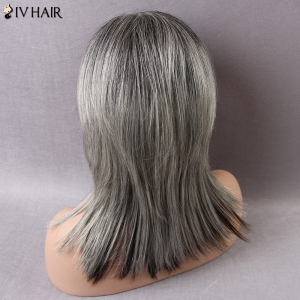 Siv Medium Colormix Side Parting Straight Human Hair Wig -