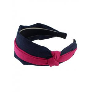 Chic Layered Knotted Wide Headband - HOT PINK