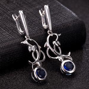 Dolphin Zircon Pendant Necklace Set -
