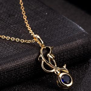 Dolphin Zircon Pendant Necklace and Earrings -