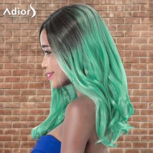 Adiors Long Side Parting Wavy Ombre Cosplay Synthetic Wig -