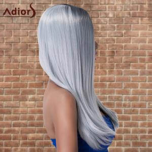 Adiors Long Side Parting Silky Straight Ombre Cosplay Synthetic Wig - MULTICO