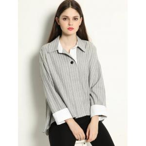 High Low Pullover BF Striped Shirt -