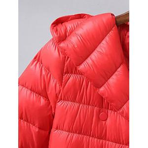 Belted Double Breasted Hooded Down Coat -