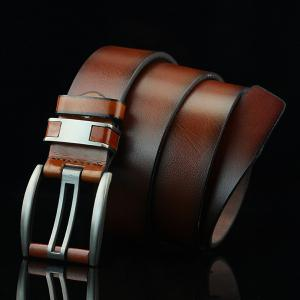Brief Hollow Out Roller Buckle PU Wide Belt - BROWN