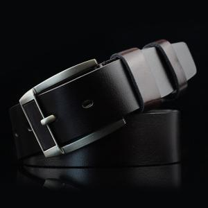 Brief Retro Pin Buckle PU Belt - Espresso - S