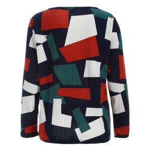 Color Block Geometry Patchwork Plus Size Knitwear - COLORMIX 5XL