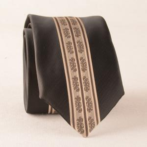 Retro Stripe Paisley Slim Designer Neck Tie