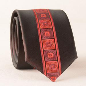 Casual Geometry Plaid Texture Neck Tie