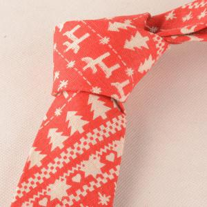 Christmas Tree Pattern Pocket Square and Neck Tie - ORANGE