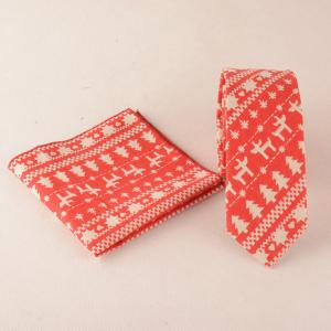 Christmas Tree Pattern Pocket Square and Neck Tie