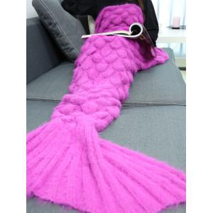 Soft Knitted Throw Bed Wrap Mermaid Blanket - TUTTI FRUTTI