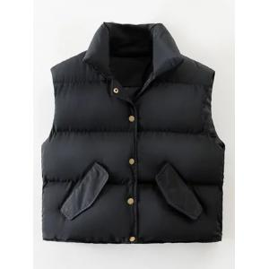 Puffer Button Up Vest