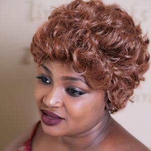Short Towheaded Curly Synthetic Wig - COLORMIX