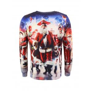 Santa Claus 3D Printed Christmas Sweatshirt - COLORMIX 2XL
