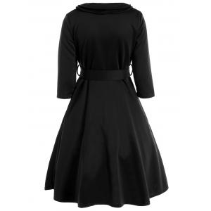 Bowknot Belted Swing Dress -