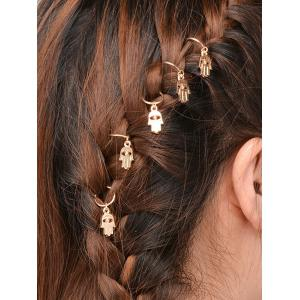 5 PCS Devil Eye Hand Hair Accessories - Golden - 9