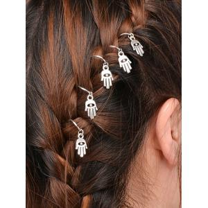 5 PCS Devil Eye Hand Hair Accessory - Silver - 9