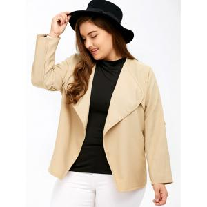 Plus Size Pocket Open Design avant Jacket -