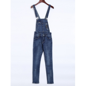 Denim Overalls With Pocket