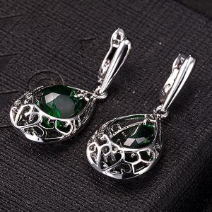 Teardrop Fake Emerald Jewelry Set -