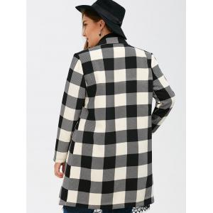 Manteau Tartan Plaid double boutonnage - Noir Plaid 2XL