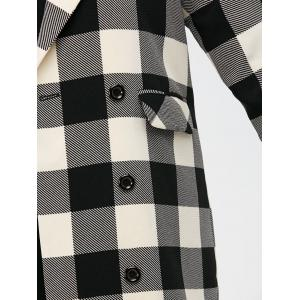 Manteau Tartan Plaid double boutonnage -